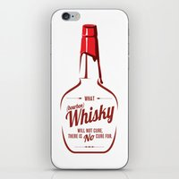 whisky iPhone & iPod Skins featuring What Whisky Will Not Cure... by TwoDee Design