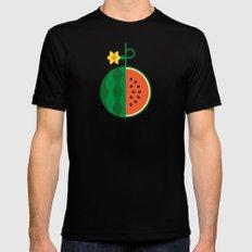 Fruit: Watermelon MEDIUM Mens Fitted Tee Black