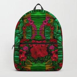 loveable landscape in big flower blooms Backpack
