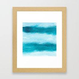 WAVES OF BLUE Framed Art Print