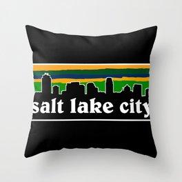 Salt Lake Cityscape Throw Pillow