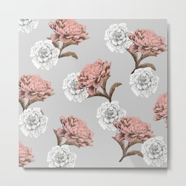 pink and white flowers Metal Print