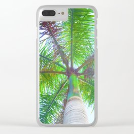 342 - Palm Tree Clear iPhone Case