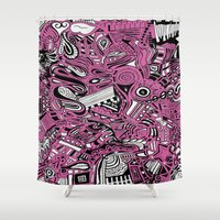 bubblegum Shower Curtains featuring BubbleGum by DuckyB