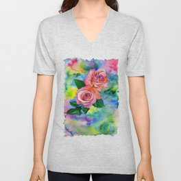Noses in the Roses Unisex V-Neck