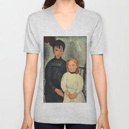 "Amedeo Modigliani ""Les deux filles"" Unisex V-Neck"