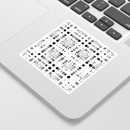 Op Spots on White Sticker