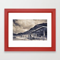 California Gas Station Framed Art Print
