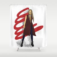 vampire Shower Curtains featuring vampire by AnyAnd