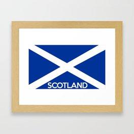 scotland country flag name text Framed Art Print