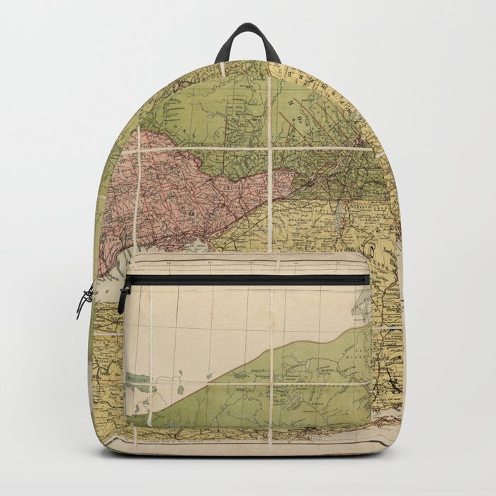 Map Of Canada 1870.Map Of Canada By John Bartholomew 1870 Backpack By Thearts