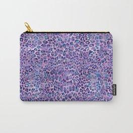 Purple Leopard Print Carry-All Pouch