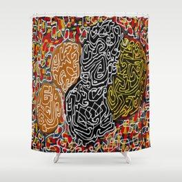 Laberinto graffiti Shower Curtain