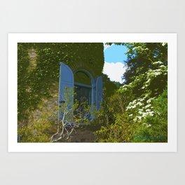 Garden Tower, Secret Garden Series Art Print