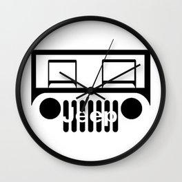 Jeep of road Wall Clock