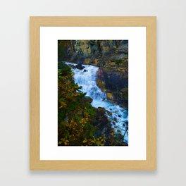 White Falls along the Berg Lake Trail in BC Framed Art Print