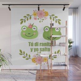 Frogs in love Wall Mural