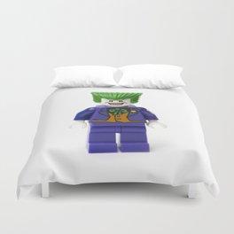 Haha funny man Joker Minifig Duvet Cover