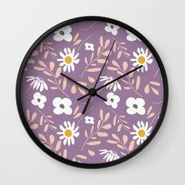 Joyful Folk Floral July Saturday. Wall Clock
