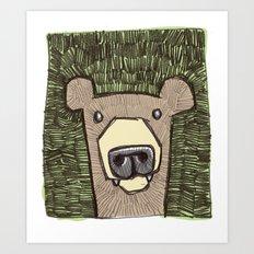 dack the bear Art Print