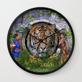 A wildlife, Bengal-tiger Wall Clock