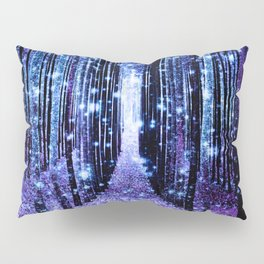 Magical Forest Turquoise Purple Pillow Sham