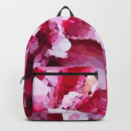 Double Stargazer Lily Low Poly Geometric Triangles Backpack