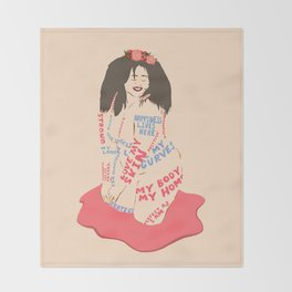 My Body My Home Throw Blanket