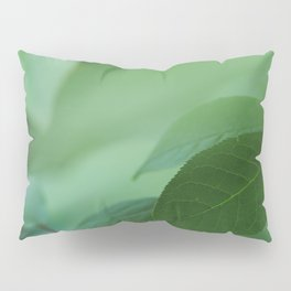 Close up of green leaves. Background. Pillow Sham