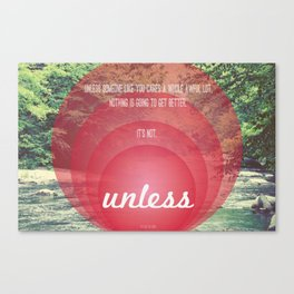Unless | Red Canvas Print