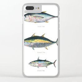 Tunas poster Clear iPhone Case