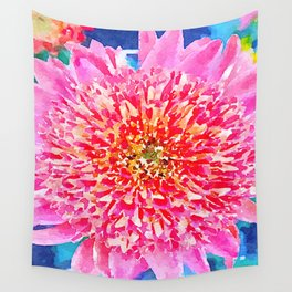 Pink Watercolor Flower Wall Tapestry