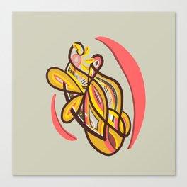 Abstract yellow geometric design Canvas Print