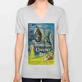 The Thing That Couldn't Die, Vintage Horror Movie Poster Unisex V-Neck