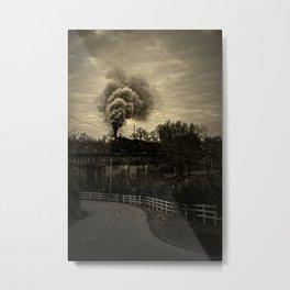 Steam Metal Print