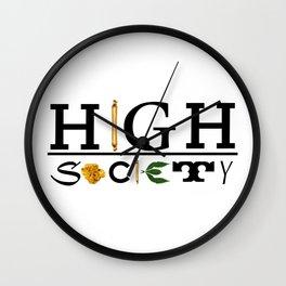 High Society Logo2 Wall Clock
