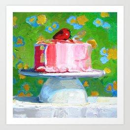 Pink Cake Art Print