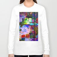 oil Long Sleeve T-shirts featuring Oil Spill by Martina Erives50