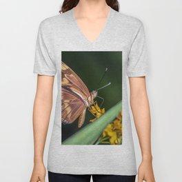 Butterfly on a flower Unisex V-Neck