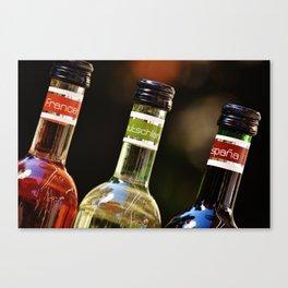 France Germany Spain Bottles of Wine Canvas Print