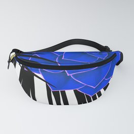 Big Bold Indigo Echeveria Illustration Fanny Pack
