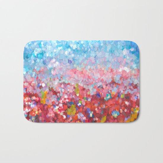 Abstract Garden Bath Mat