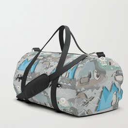 Arctic animals grey Duffle Bag