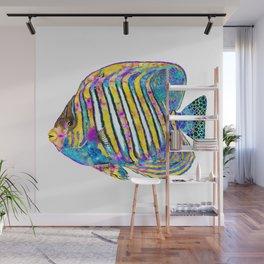 Colorful Angelfish Art - Beach Queen - Sharon Cummings Wall Mural