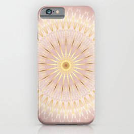 Gold Rose Mandala iPhone Case