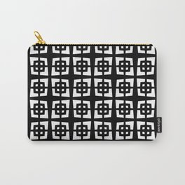 Mid Century Modern Pattern 271 Black and White Carry-All Pouch
