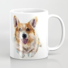 Corgi painting, watercolor Corgi, dog paintings, dog breed mugs, dog breed pillows Mug