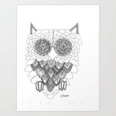 Angelina Bowen Fine Art Print- Owl Art Print