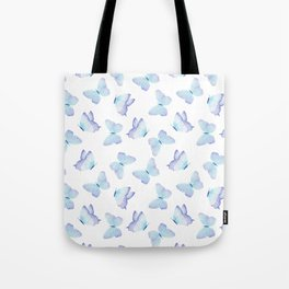 Lilac aqua blue watercolor hand painted butterfly Tote Bag
