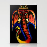 ganesh Stationery Cards featuring Ganesh by Brian J Farrell